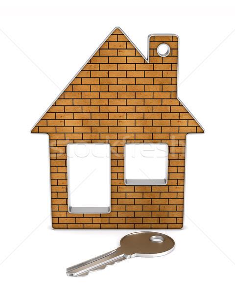 keys and house on white background. isolated 3d illustration Stock photo © ISerg