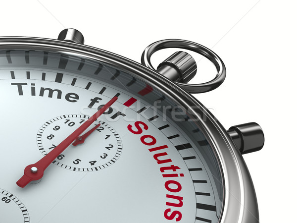 Time for solution. Stopwatch on white background. Isolated 3D im Stock photo © ISerg