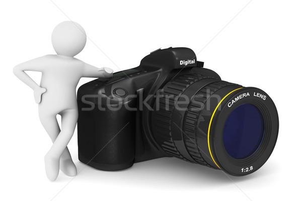 цифровая камера изолированный 3D 3d иллюстрации человека Сток-фото © ISerg