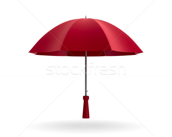 umbrella on white background. Isolated 3d illustration Stock photo © ISerg