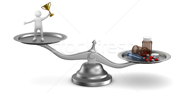 Problems dope in sports. Isolated 3D illustration Stock photo © ISerg