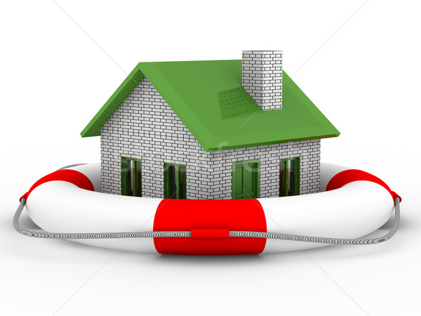 Real estate rescue. Isolated 3D image on white Stock photo © ISerg