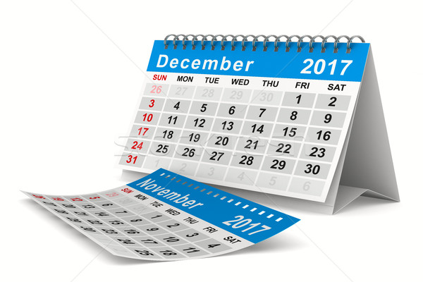 2017 year calendar. December. Isolated 3D image Stock photo © ISerg