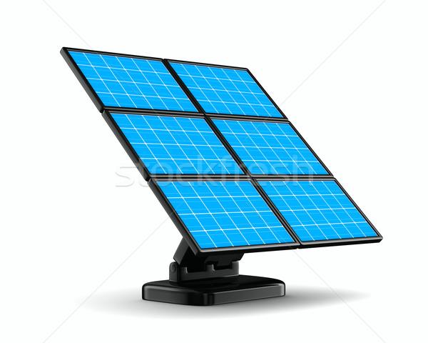 solar battery on white background. Isolated 3d image Stock photo © ISerg