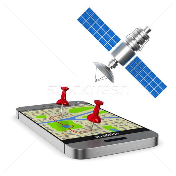 Navigation system. Isolated 3D illustration Stock photo © ISerg