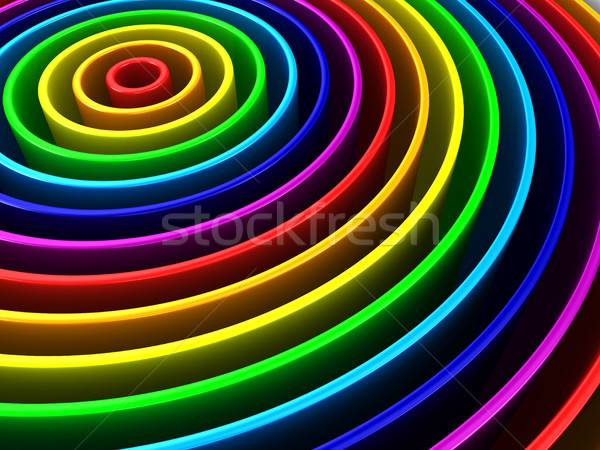 colored circle construction. 3D illustration Stock photo © ISerg