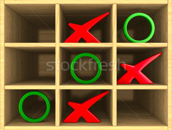 tic tac toe game. 3D illustration Stock photo © ISerg