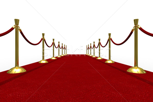 Red Carpet alb izolat 3D imagine succes Imagine de stoc © ISerg