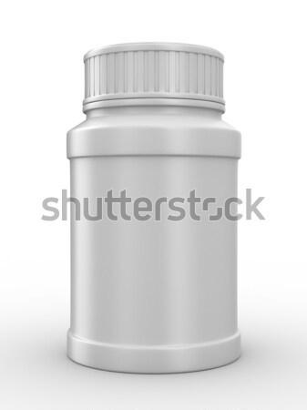 Stock fotó: üveg · fehér · izolált · 3D · kép · orvosi