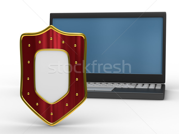 Protected global network Internet. Isolated 3D image Stock photo © ISerg
