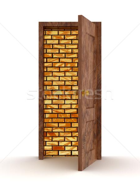 Zdjęcia stock: Otwartych · drzwi · biały · 3D · obraz · domu · domu