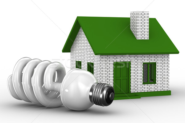Power efficiency of house. Isolated 3D image Stock photo © ISerg
