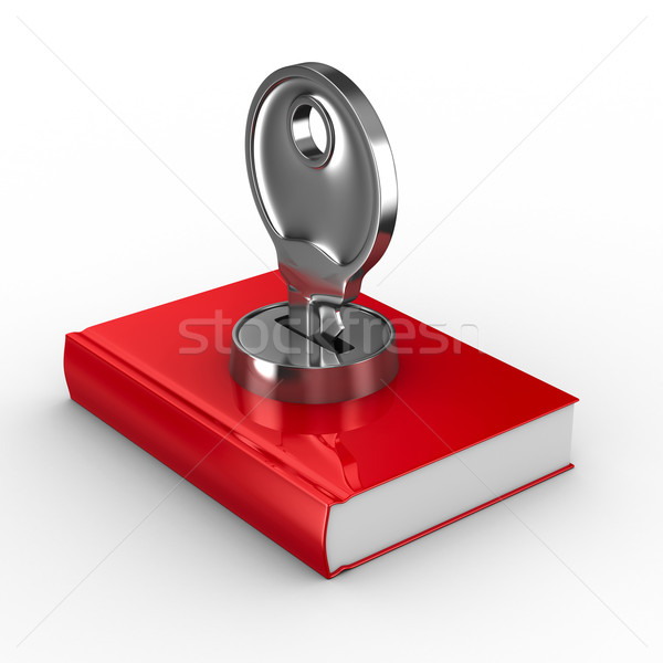 Closed book on white background. Isolated 3D image Stock photo © ISerg