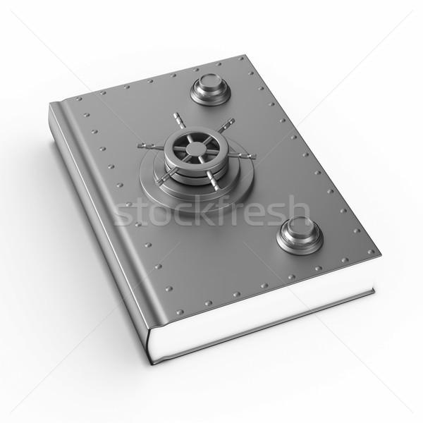 Biztonság könyv fehér izolált 3d illusztráció iskola Stock fotó © ISerg