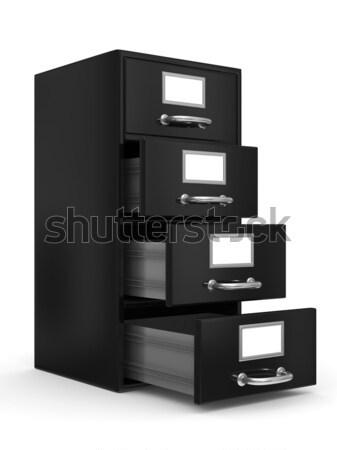 Stock fotó: Faliszekrény · fehér · izolált · 3D · kép · fém