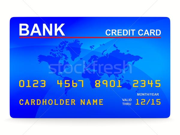 credit card on white. Isolated 3D image Stock photo © ISerg