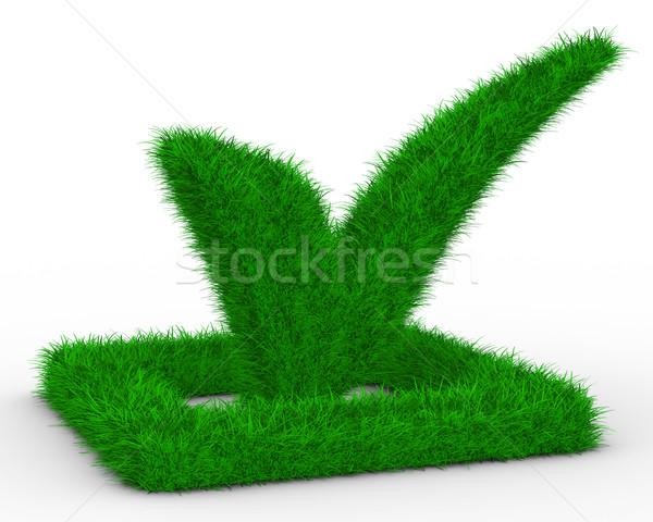 Stockfoto: Groot · positief · symbool · witte · geïsoleerd · 3D