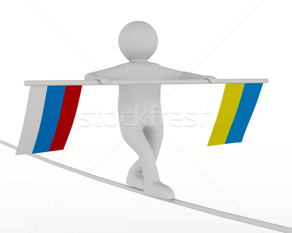 Relations between Russia and Ukraine. Isolated 3D image Stock photo © ISerg