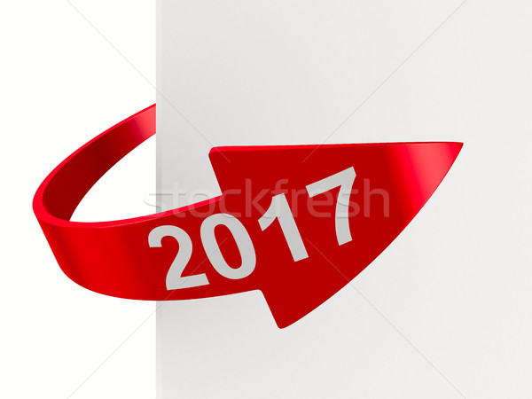 red arrow on white background. Isolated 3D image Stock photo © ISerg