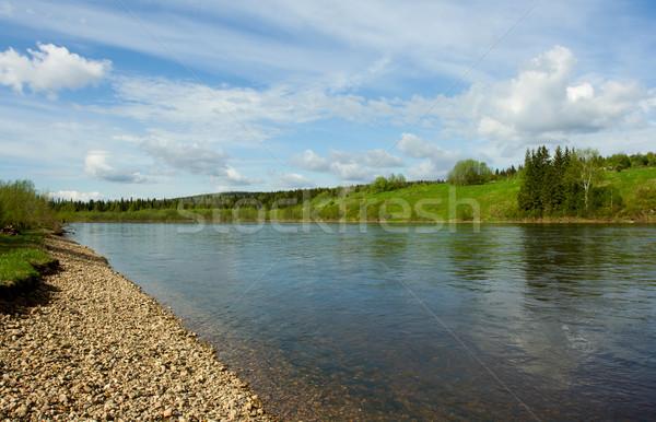 лет пейзаж облака реке пляж Сток-фото © ISerg