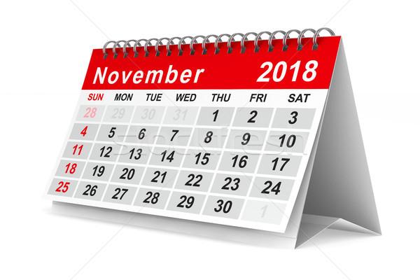 2018 year calendar. November. Isolated 3D illustration Stock photo © ISerg