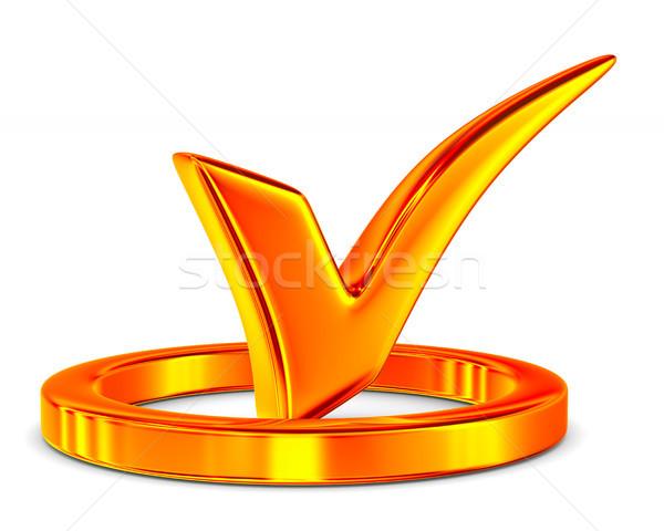 big positive symbol on white background. Isolated 3D illustratio Stock photo © ISerg
