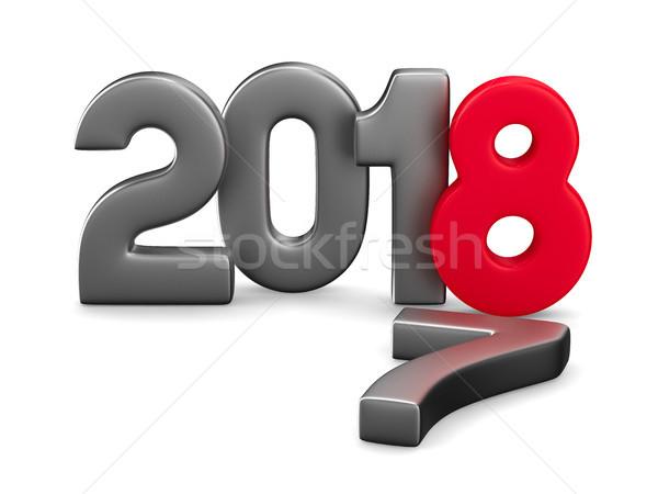 új év izolált 3d illusztráció naptár karácsony grafikus Stock fotó © ISerg