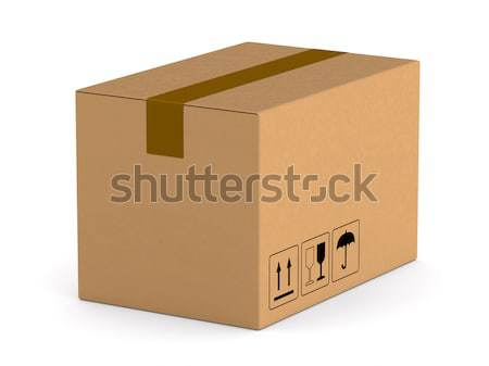 cargo box on white background. Isolated 3D illustration Stock photo © ISerg