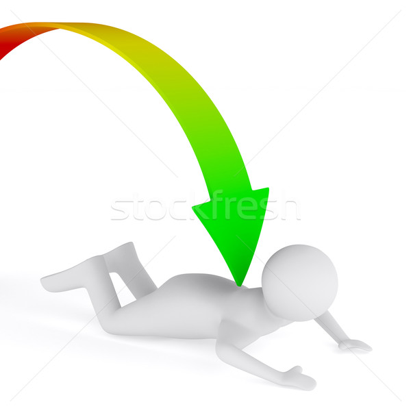 Problems in business. Isolated 3D image on white Stock photo © ISerg
