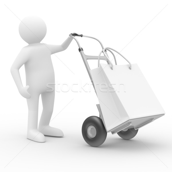 hand truck on white background. Isolated 3D image Stock photo © ISerg
