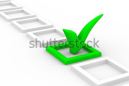 Nagy pozitív szimbólum fehér izolált 3D Stock fotó © ISerg