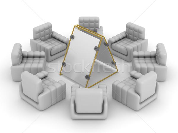 Stock foto: Acht · herum · Plakat · 3D · Bild · Business