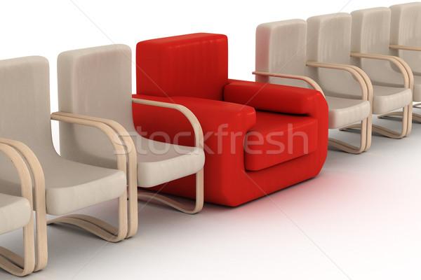 Stock fotó: Csetepaté · fehér · 3D · kép · iroda · otthon