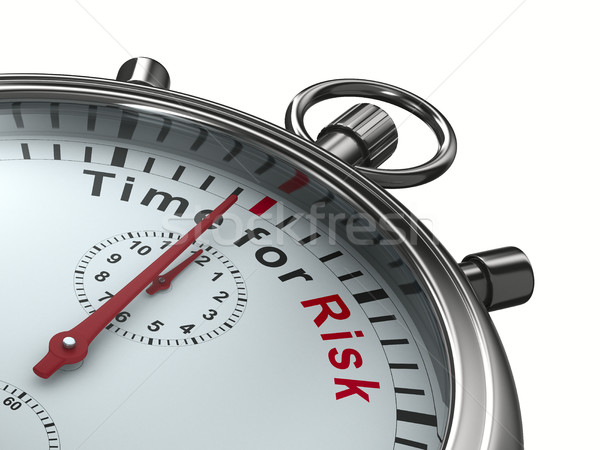 Time for risk. Stopwatch on white background. Isolated 3D image Stock photo © ISerg