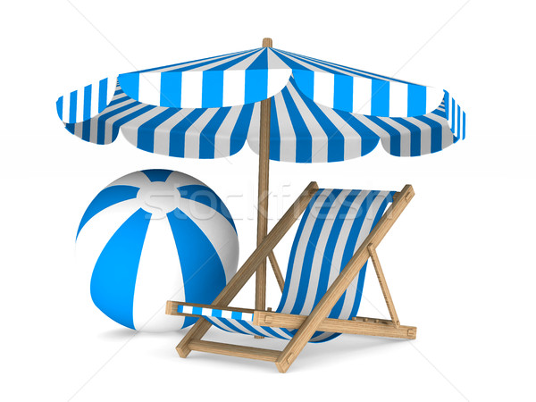 Vacation on white background. Isolated 3D image Stock photo © ISerg