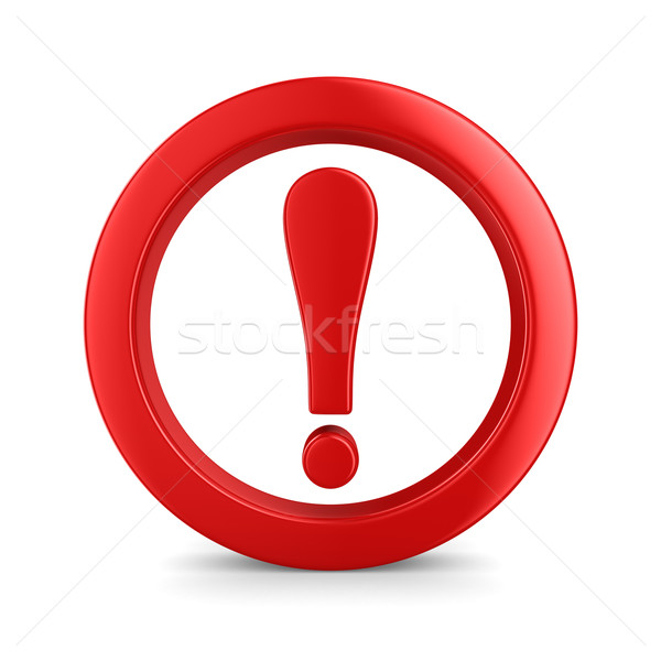 Attention. traffic sign on white background. Isolated 3D image Stock photo © ISerg
