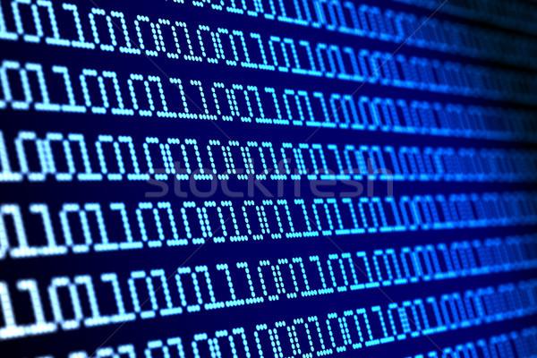 Digitális bináris kód kék 3d illusztráció internet absztrakt Stock fotó © ISerg