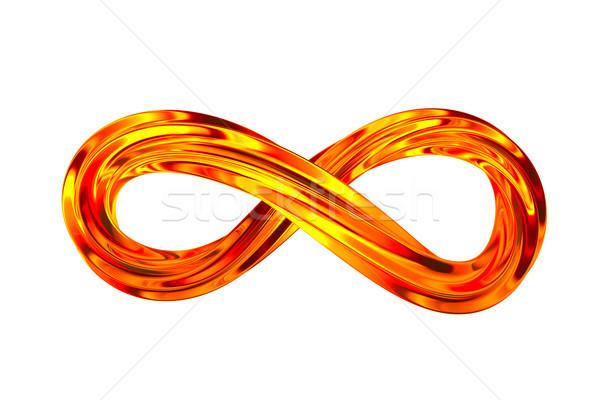 ストックフォト: 無限 · にログイン · 白 · 孤立した · 3次元の図 · 抽象的な