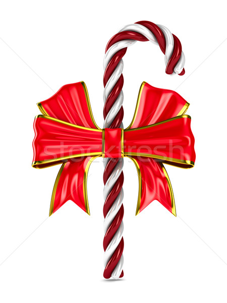 Stock photo: Christmas candy on white background. Isolated 3d image