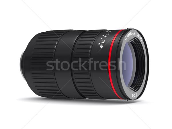 Kameralencse fehér izolált 3D kép terv Stock fotó © ISerg