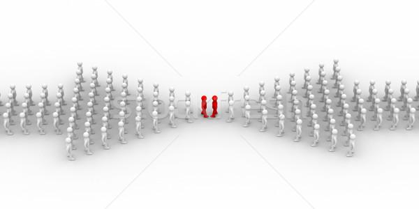 Stockfoto: Pijl · mensen · 3D · afbeelding · internet · technologie