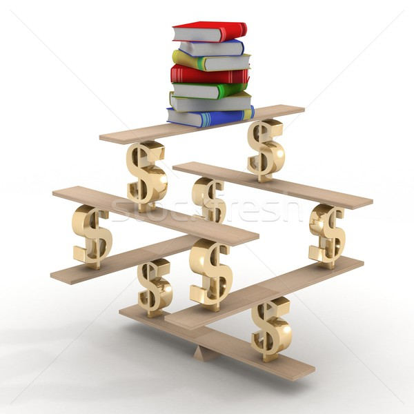 üzlet képzés 3D kép könyv tanulás Stock fotó © ISerg