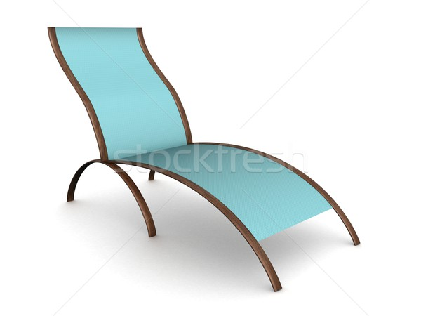 Deckchair on a white background. 3D image. Stock photo © ISerg