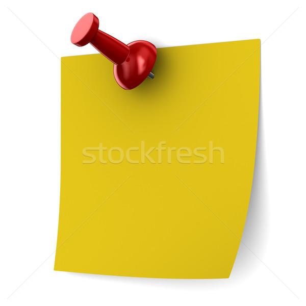 Red thumbtack on white background. Isolated 3D image Stock photo © ISerg