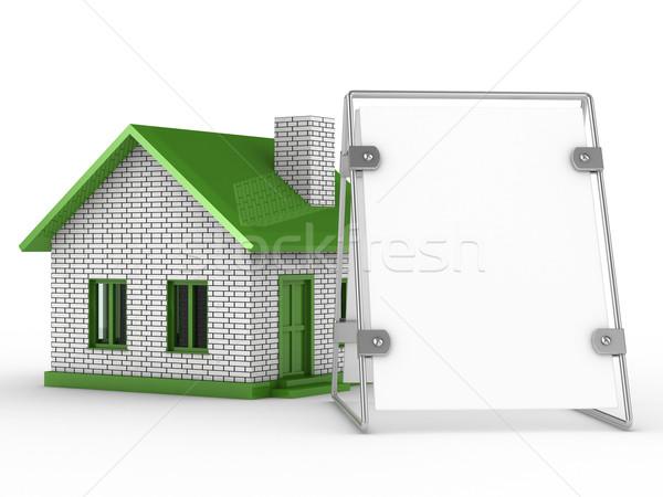 Nieruchomości sprzedaży odizolowany 3D obraz biały Zdjęcia stock © ISerg