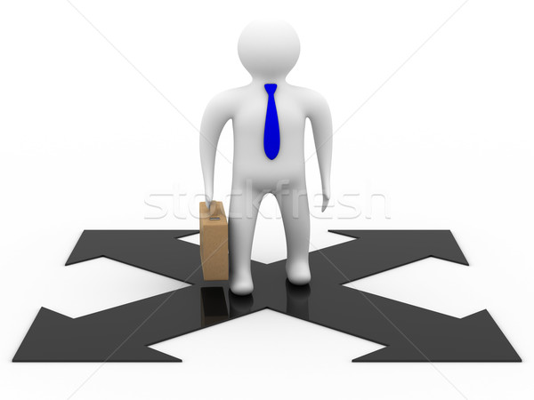 businessman on a white background. Isolated 3D image. Stock photo © ISerg