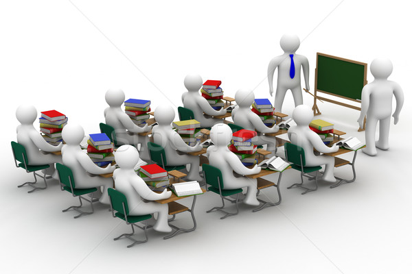 Les school klasse geïsoleerd 3D afbeelding Stockfoto © ISerg