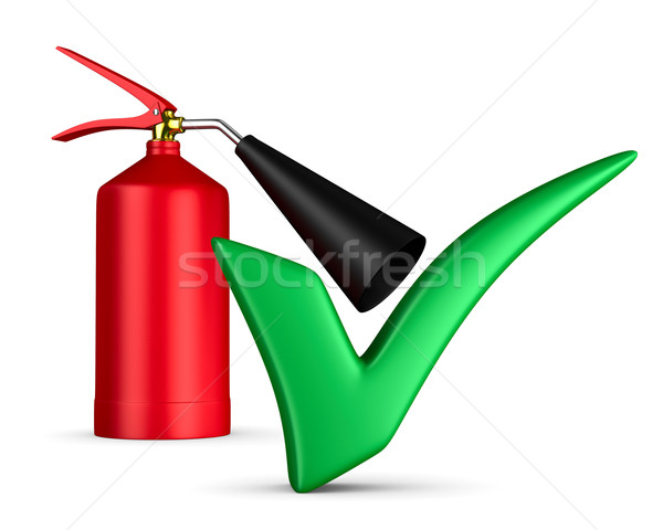 fire extinguisher on white background. Isolated 3D image Stock photo © ISerg
