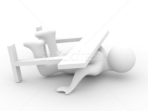 Not broken barrier. Isolated 3D image. Stock photo © ISerg