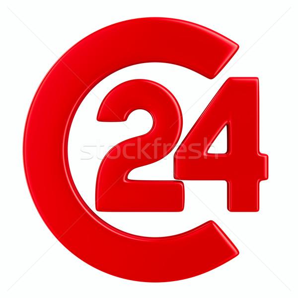 Symbol 24 hours on white background. Isolated 3D image Stock photo © ISerg